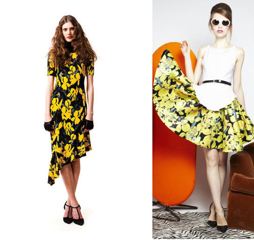 Recent accusation of Alice & Olivia (on right) copying design of Vena Cava (left)-likely would not qualify as copyright infringement