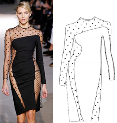Stella McCartney's recent design patent on this sheered cut-out polka dot dress