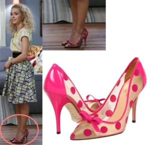 Carrie-Diaries-Pink-Polka-Dot-Pumps-Heels1