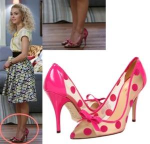 Carrie-Diaries-Pink-Polka-Dot-Pumps-Heels1