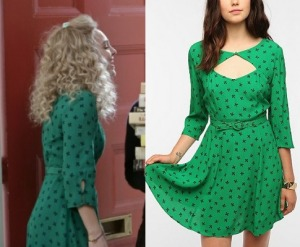 green-cutout-dress