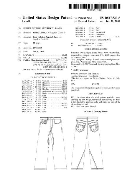 Protecting The Work Of Fashion Designers Part 2 Design Patents Fashion Nexus Has Moved Http Fashionnexus Net
