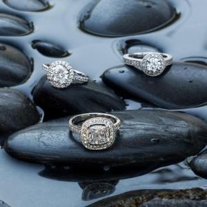 brilliant earth wet stones